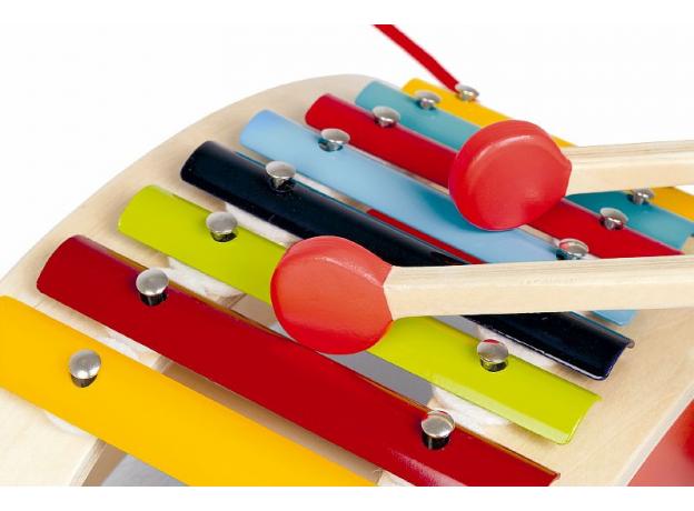 Каталка на веревочке Janod «Ксилофон», фото , изображение 8