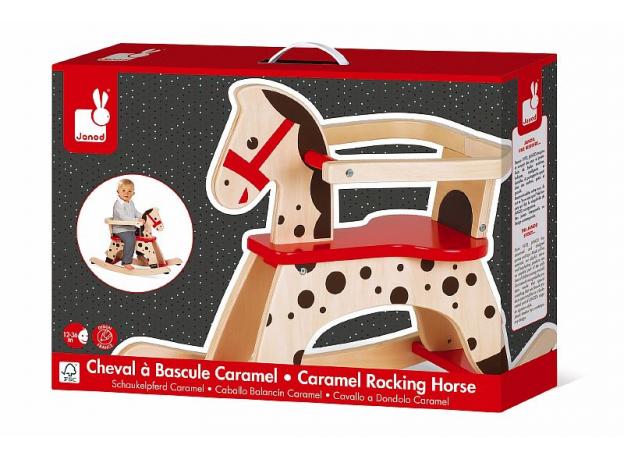 Лошадка - качалка Janod «Карамель», фото , изображение 2