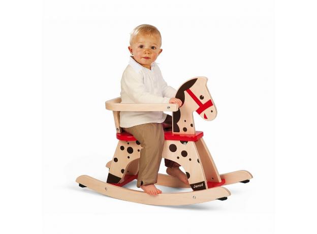 Лошадка - качалка Janod «Карамель», фото , изображение 6