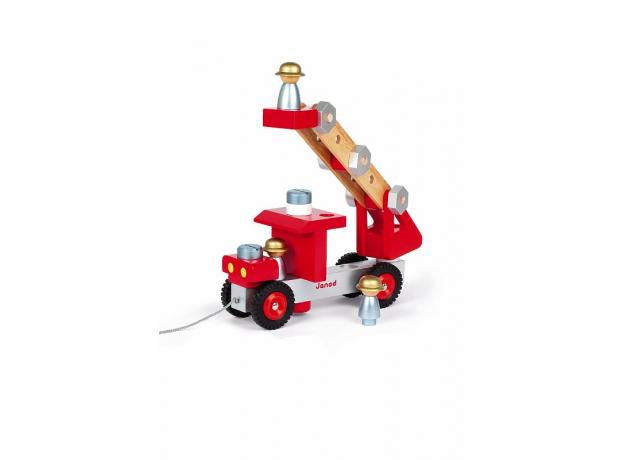 Конструктор на веревочке Janod «Пожарная машина», фото , изображение 4