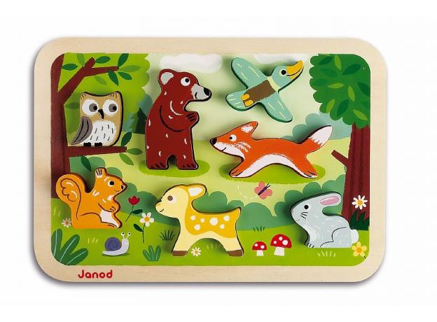 Объемный пазл Janod «Лесные животные», 7 элементов, фото , изображение 3