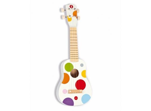 Гавайская гитара Janod деревянная, белая, фото