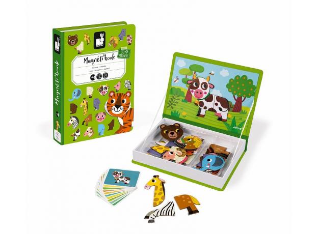Книга-игра Janod «Животные» магнитная, фото , изображение 3