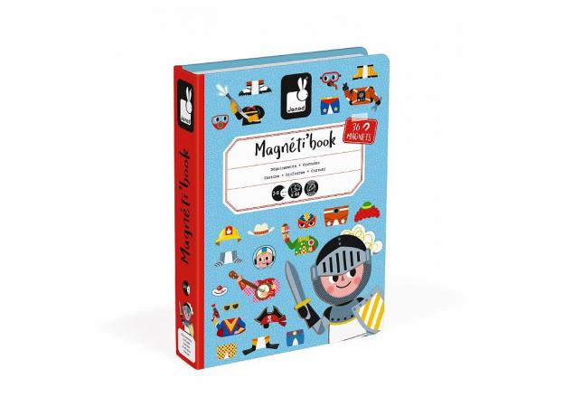 Книга-игра Janod «Мальчики в костюмах» магнитная, фото , изображение 2