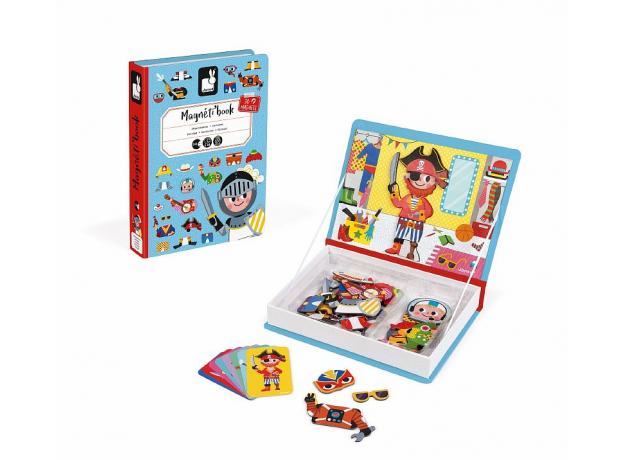 Книга-игра Janod «Мальчики в костюмах» магнитная, фото , изображение 3
