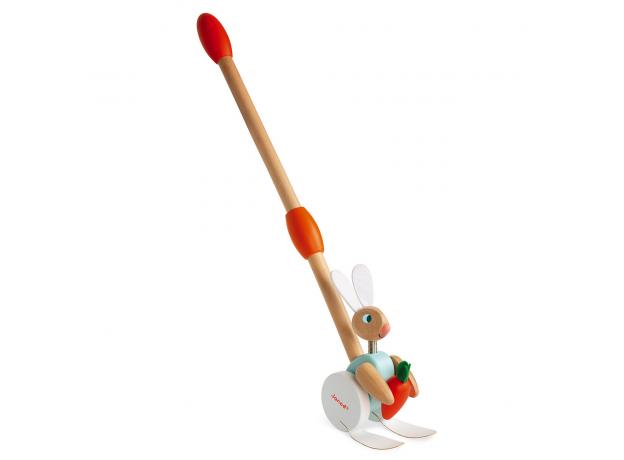 Каталка с ручкой Janod «Кролик», фото , изображение 2