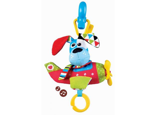 Игрушка мягкая музыкальная Yookidoo «Щенок в самолете» , фото