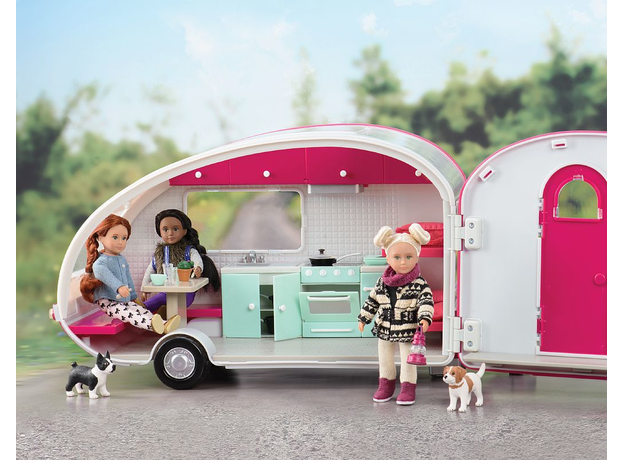 Автофургон для куклы Lori c мебелью и аксессуарами, фото
