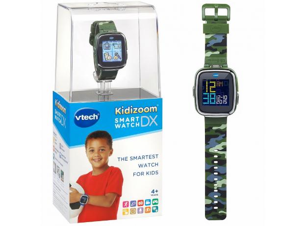 VTECH Детские наручные часы Kidizoom SmartWatch DX  камуфляжного цвета 80-171673, фото , изображение 3