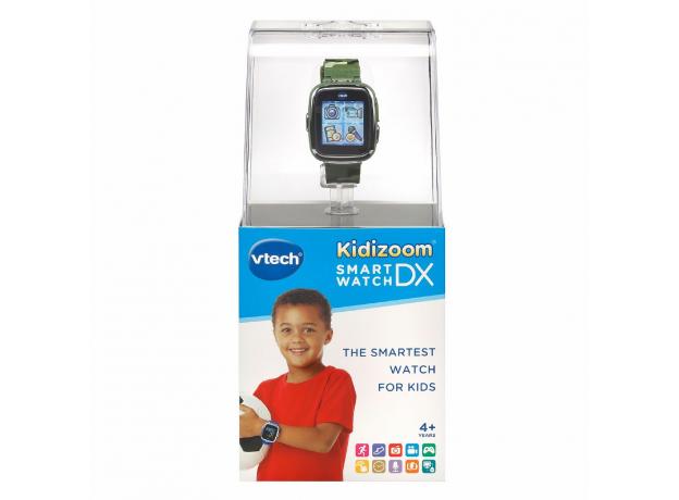 VTECH Детские наручные часы Kidizoom SmartWatch DX  камуфляжного цвета 80-171673, фото , изображение 4