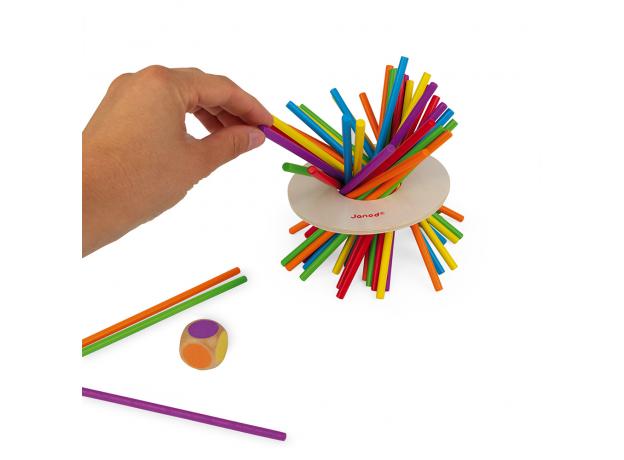 Игра настольная Janod микадо «Цветные палочки», фото , изображение 4