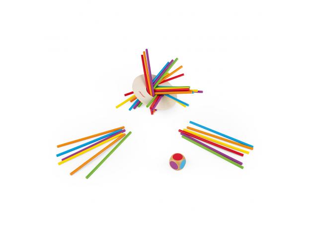 Игра настольная Janod микадо «Цветные палочки», фото , изображение 6