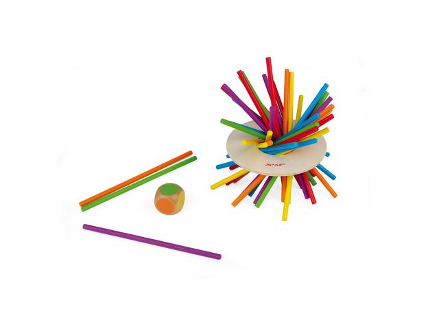 Игра настольная Janod микадо «Цветные палочки», фото