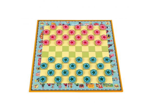 Игра настольная Janod шашки «Цирк Шапито», фото