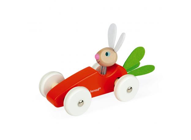 Каталка-машинка для малышей Janod «Кролик», фото , изображение 3