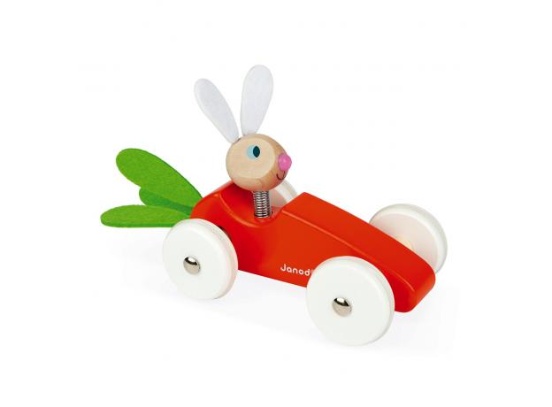 Каталка-машинка для малышей Janod «Кролик», фото