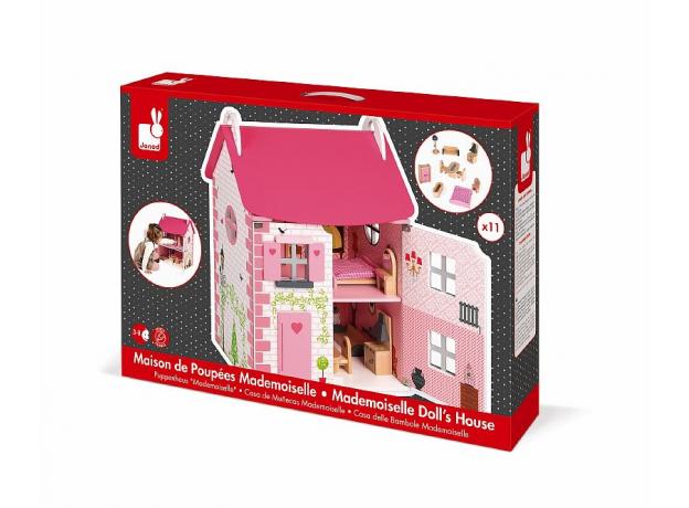 Домик кукольный Janod с мебелью «Мадемуазель», фото , изображение 3