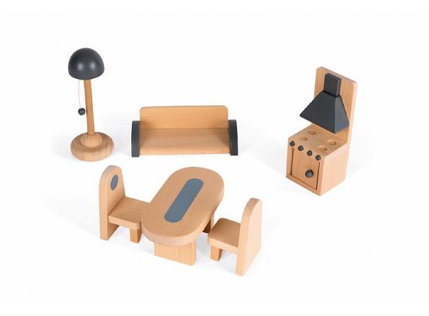 Домик кукольный Janod с мебелью «Мадемуазель», фото , изображение 9