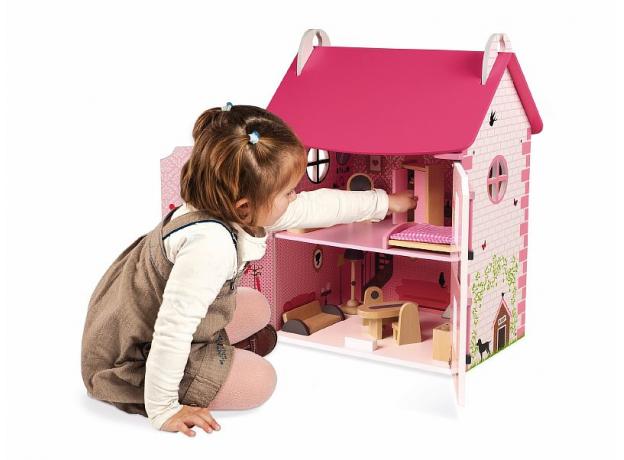 Домик кукольный Janod с мебелью «Мадемуазель», фото , изображение 11