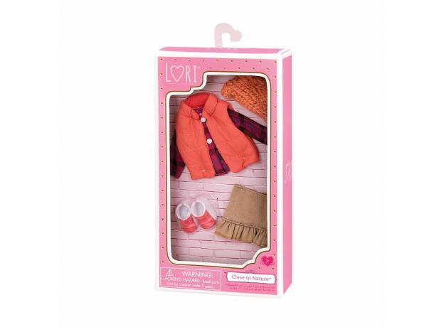 Комплект одежды для куклы Lori с дутой жилеткой, фото , изображение 2