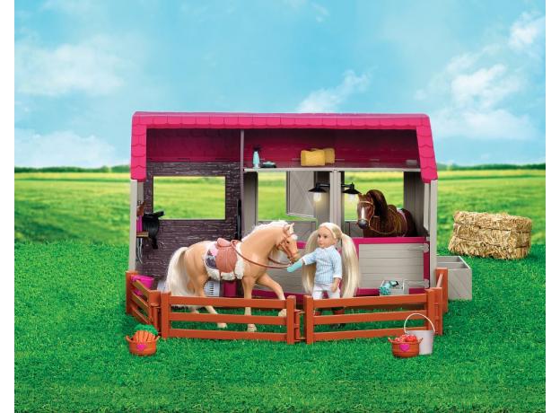 Конюшня для лошадей и жеребят Lori с аксессуарами, фото , изображение 3
