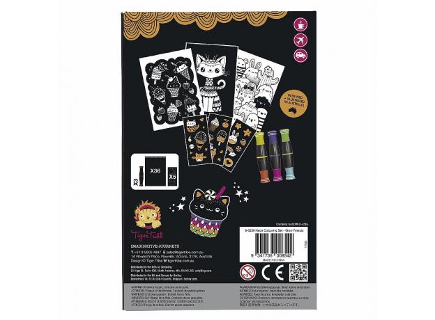 Набор для создания неоновых рисунков Tiger Tribe «Светящиеся друзья», фото , изображение 5