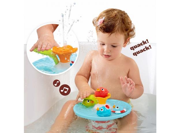 Игрушка для ванны Yookidoo фонтан «Утиные гонки», музыкальная, фото