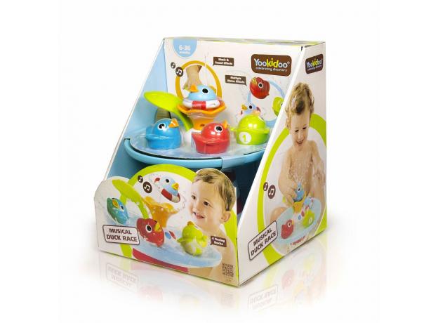 Игрушка для ванны Yookidoo фонтан «Утиные гонки», музыкальная, фото , изображение 3