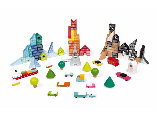 Конструктор Janod «Kubix. Архитектурные блоки»: 70 элементов , фото , изображение 4