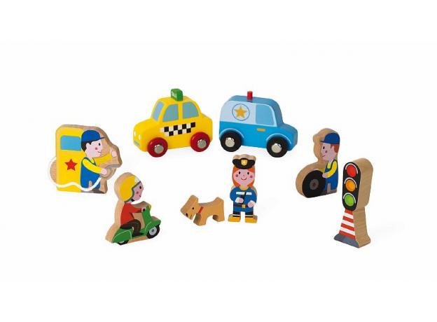 Набор деревянных фигурок Janod «Маленькие истории. Город», фото