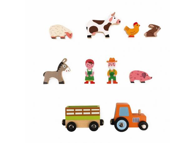 Набор деревянных фигурок Janod «Маленькие истории. Ферма», фото , изображение 4