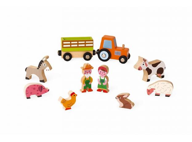 Набор деревянных фигурок Janod «Маленькие истории. Ферма», фото