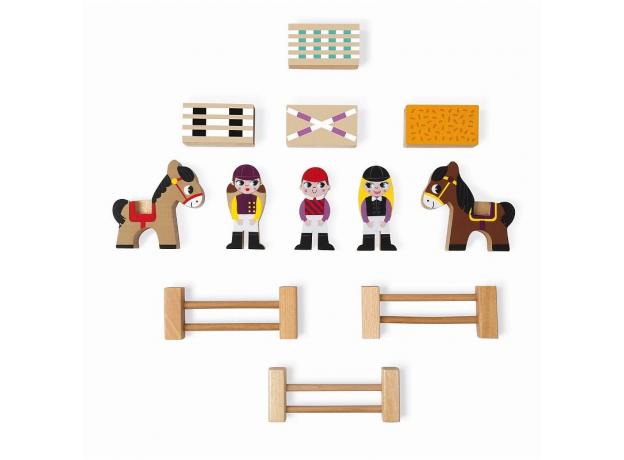Набор деревянных фигурок Janod «Маленькие истории. Школа верховой езды», фото , изображение 4