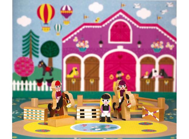 Набор деревянных фигурок Janod «Маленькие истории. Школа верховой езды», фото , изображение 5