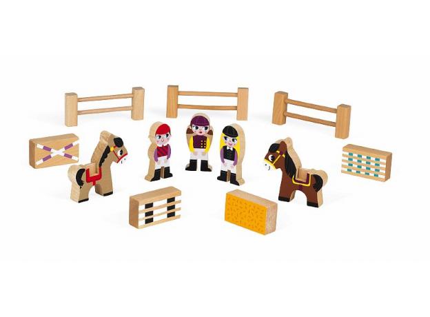 Набор деревянных фигурок Janod «Маленькие истории. Школа верховой езды», фото