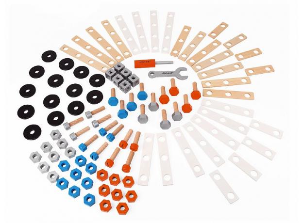 Конструктор Janod «Brico'Kids» в коробке: 100 элементов, фото , изображение 6