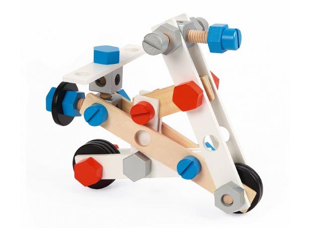 Конструктор Janod «Brico'Kids» в коробке: 100 элементов, фото , изображение 8