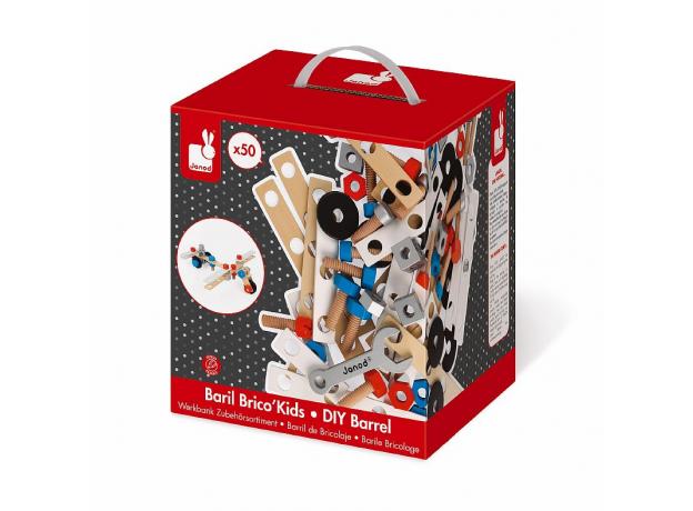 Конструктор Janod «Brico'Kids» в коробке: 50 элементов, фото , изображение 7
