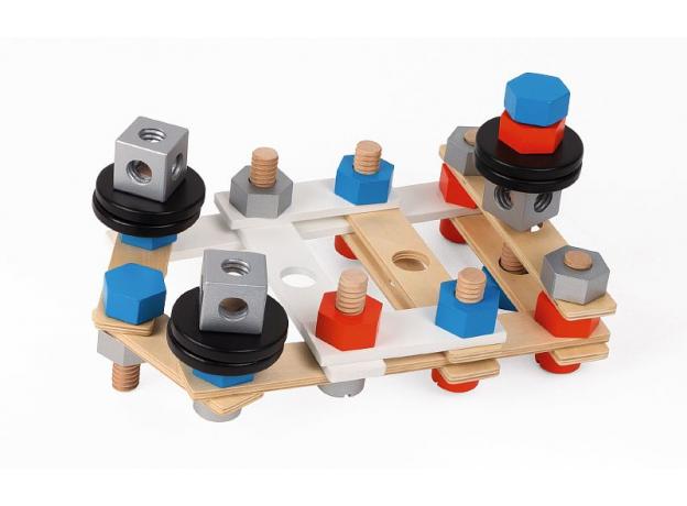 Конструктор Janod «Brico'Kids» в коробке: 50 элементов, фото , изображение 2