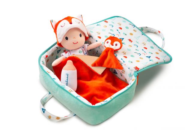 Мягкая кукла в переноске с игрушкой Lilliputiens «Алекс», фото