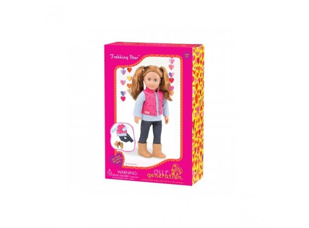 Одежда для куклы 46 см Our Generation с дутой жилеткой и джеггинсами, фото , изображение 2