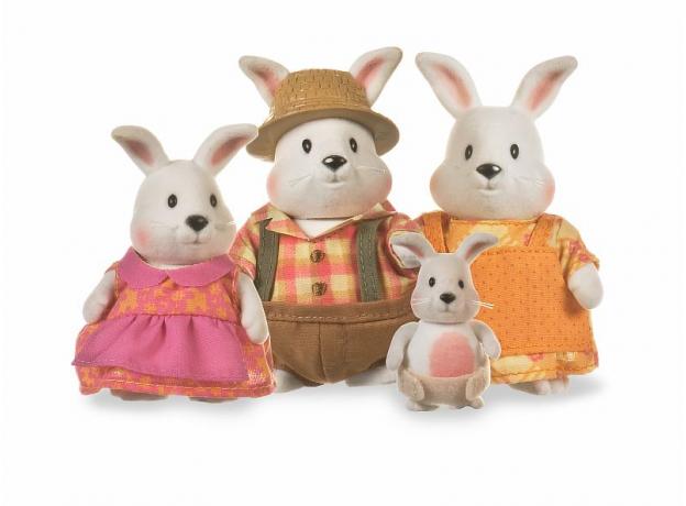 Игровой набор Li'l Woodzeez «Семья кроликов», фото
