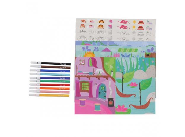 Набор для творчества с наклейками и фломастерами Tiger Tribe «Аллея фей», фото