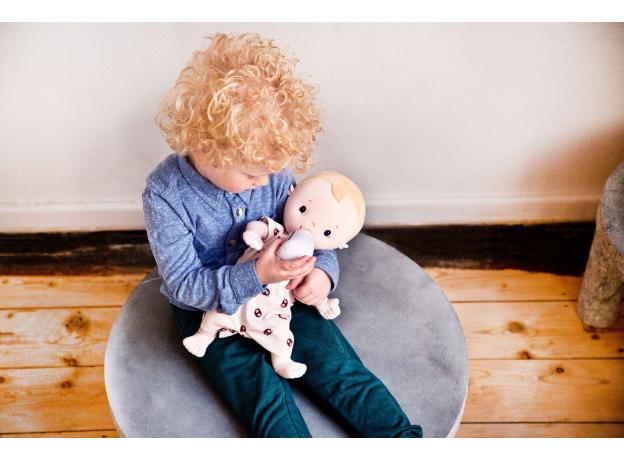Мягкая кукла с бутылочкой Lilliputiens «Лу», фото