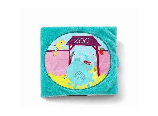 Мягкая книжка Lilliputiens «Слоненок Альберт в Зоопарке», фото
