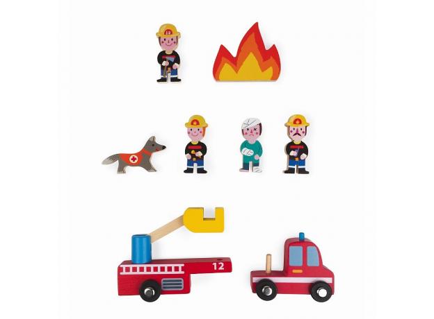 Набор деревянных фигурок Janod «Маленькие истории. Пожарные», фото , изображение 4
