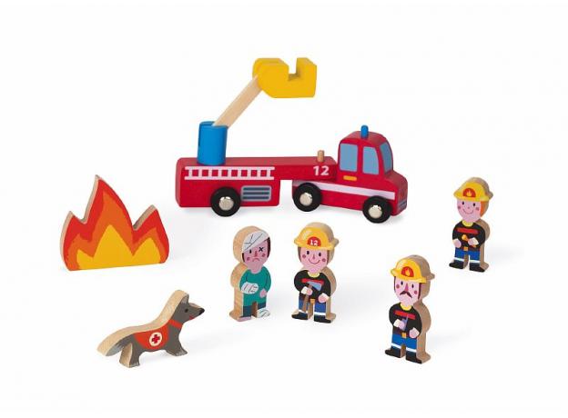 Набор деревянных фигурок Janod «Маленькие истории. Пожарные», фото