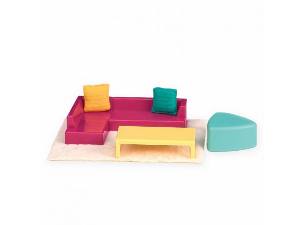 Игровой набор Lori «Модная гостиная» с мебелью и аксессуарами, фото