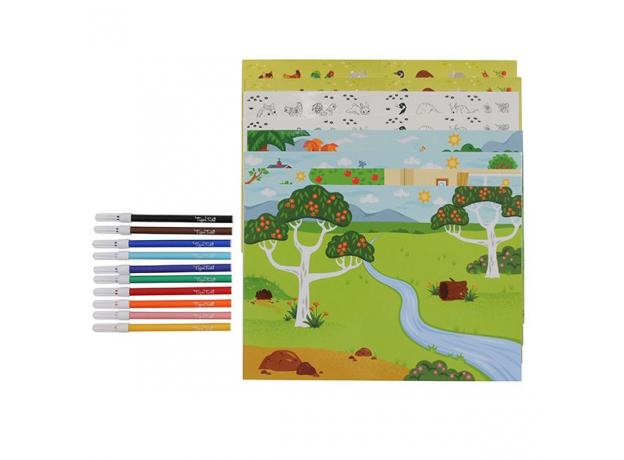 Набор для творчества с наклейками и фломастерами Tiger Tribe «Царство животных», фото , изображение 3