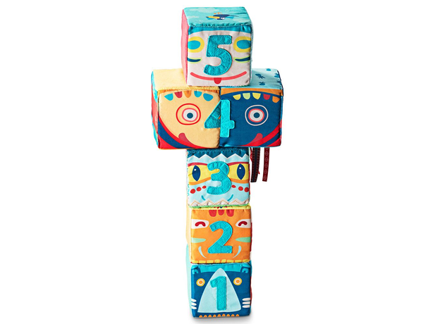 Набор из 6 мягких кубиков Lilliputiens «Тотемы», фото , изображение 2